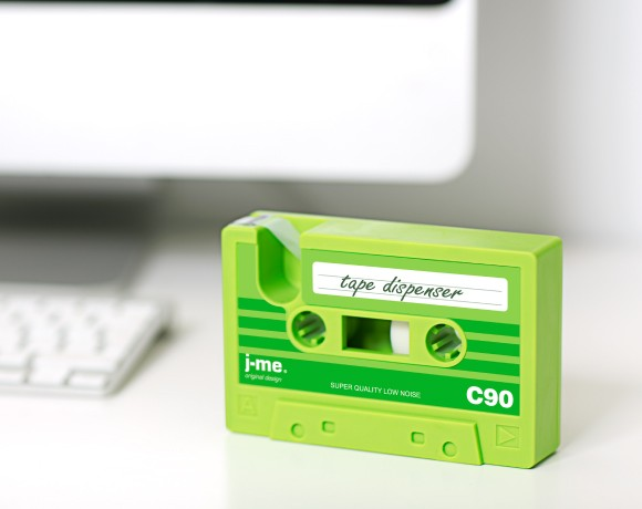 cassette tape dispenser green