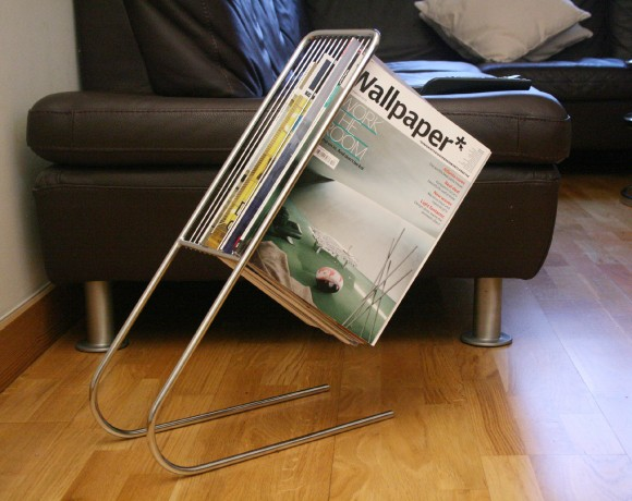 float magazine rack insitu