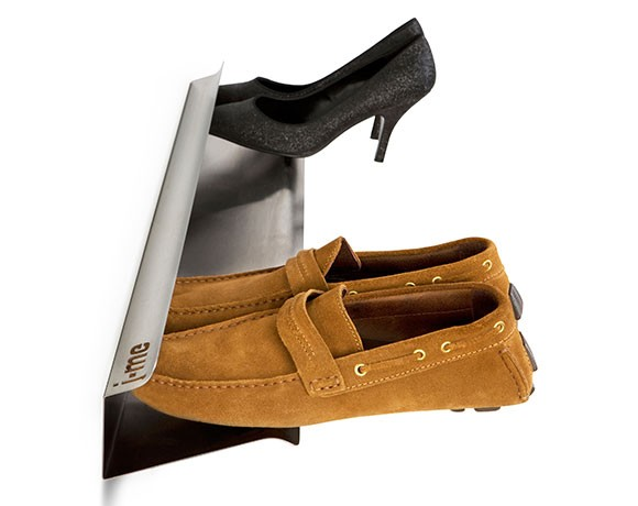 horizontal shoe rack - wall mounted shoe rack