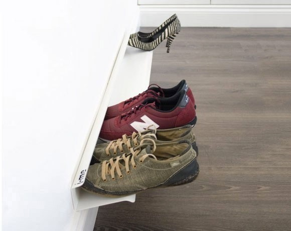 horizontal shoe rack white 1200mm