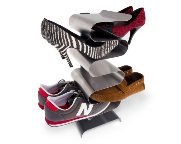 Free standing shoe rack stainless steel nest shoe rack for Rack de rangement