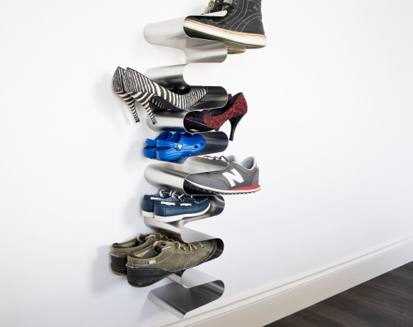 Vertical Shoe Rack Wall Mounted Stainless Steel Vertical