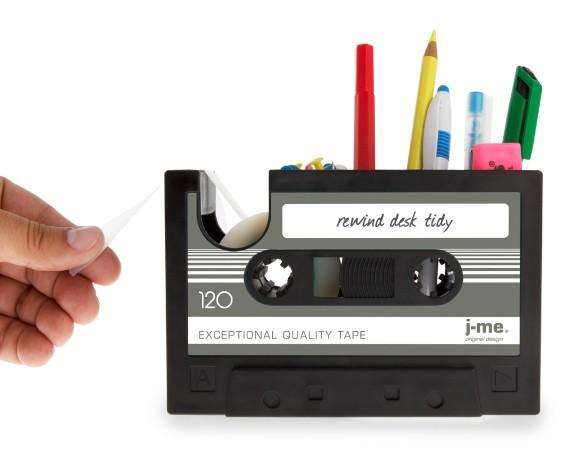 Desk Tidy rewind desk tidy | retro cassette tape desk storage | j-me