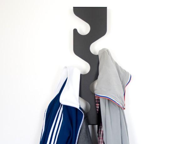 Wave Coat Rack Wall Mounted Hallway
