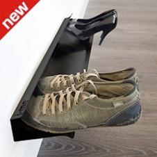 horizontal shoe rack black - 700mm