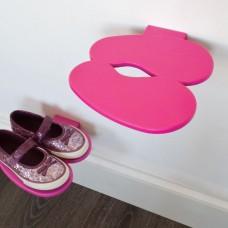 kids shoe rack pink