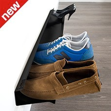 horizontal shoe rack black