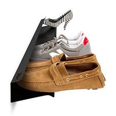 horizontal shoe rack black 1200mm