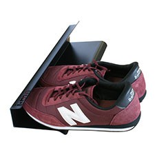 horizontal shoe rack black 400mm