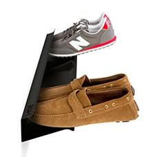 horizontal shoe rack black 700mm