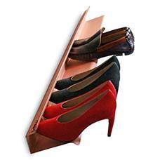 horizontal shoe rack copper 1200mm