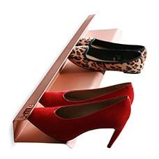 horizontal shoe rack 700mm copper cutout