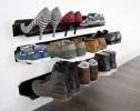 horizontal shoe rack black 700mm  - stacked