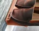 horizontal shoe rack 700mm copper detail