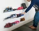 kids horizontal shoe rack - wall mounted shoe rack