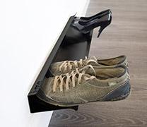 horizontal shoe rack - white