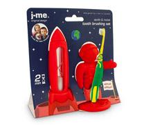 rocket timer & apollo toothbrush holder set