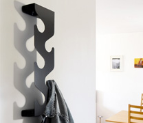 wave coat rack