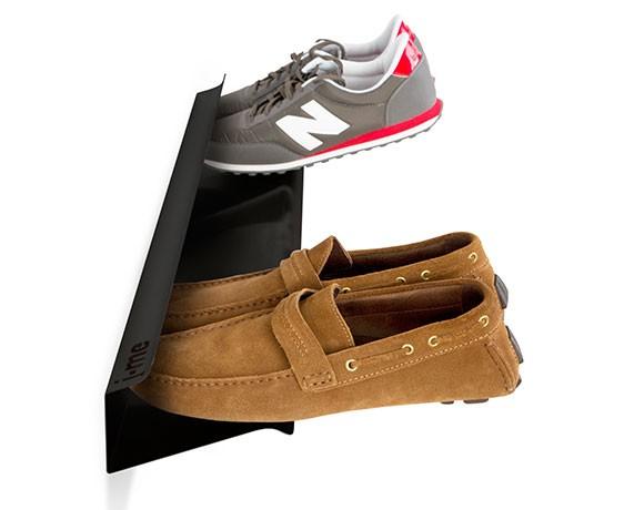 horizontal shoe rack black 700mm - cutout
