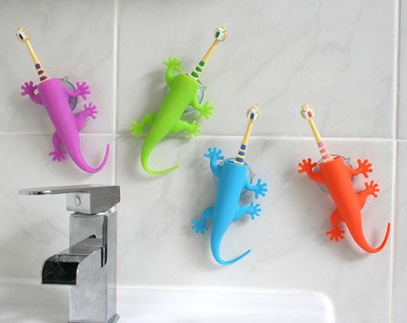 Larry Lizard Toothbrush Holder Make Brushing Teeth Fun
