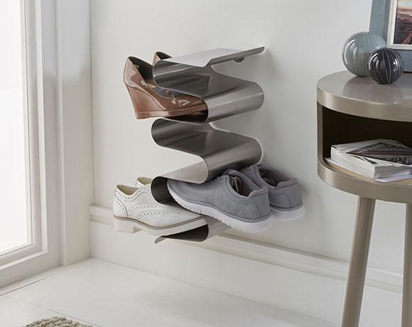 vertical shoe rack wall mounted stainless steel vertical. Black Bedroom Furniture Sets. Home Design Ideas