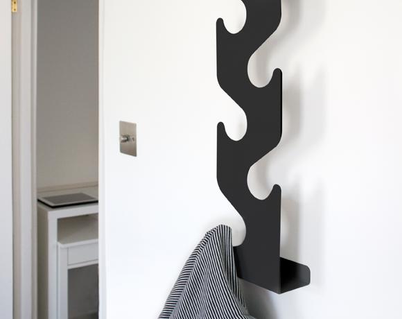 Wave Coat Rack Wall Mounted Hallway Awesome Wave Coat Rack