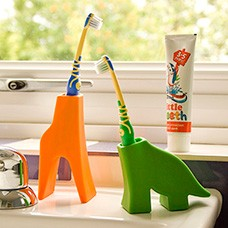 dinosaur toothbrush holder