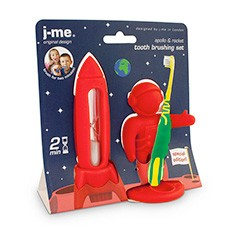 rocket timer and apollo toothbrush holder