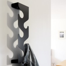 wave coat rack black